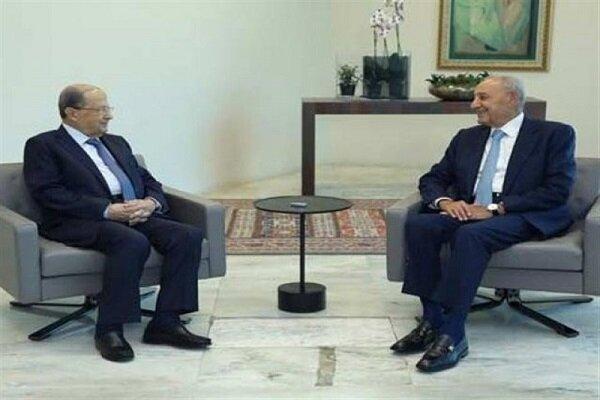 توافق عون و بری بر سر شروع رایزنی ها برای انتخاب نخست وزیر لبنان